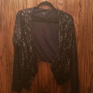 Torrid black sequin jacket